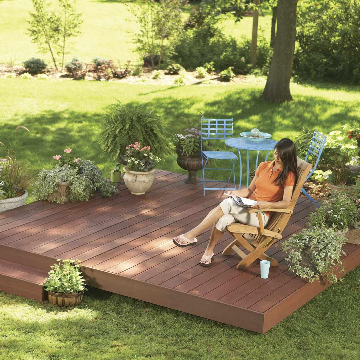 hight resolution of ground level deck