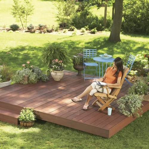 small resolution of ground level deck