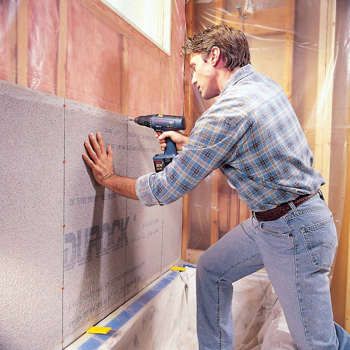 how to install cement board for tile