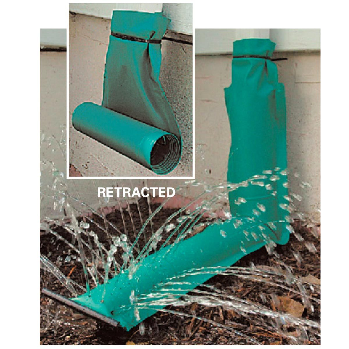 how to install flexible downspout extension