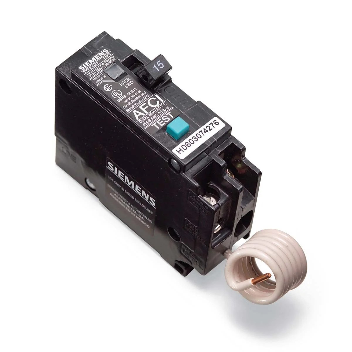 hight resolution of fix sensitive arc fault circuit breaker afci
