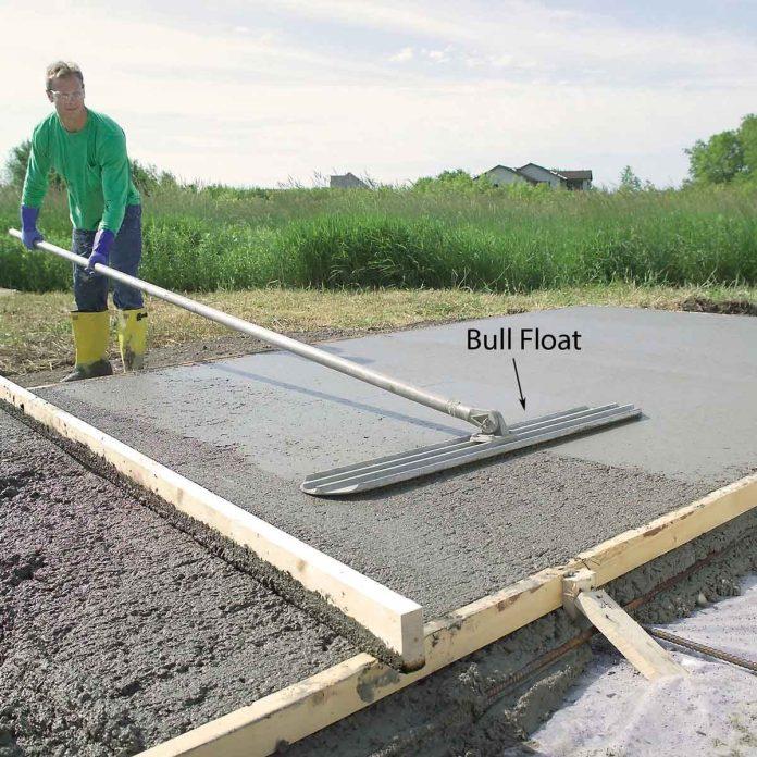 pouring a concrete slab diy