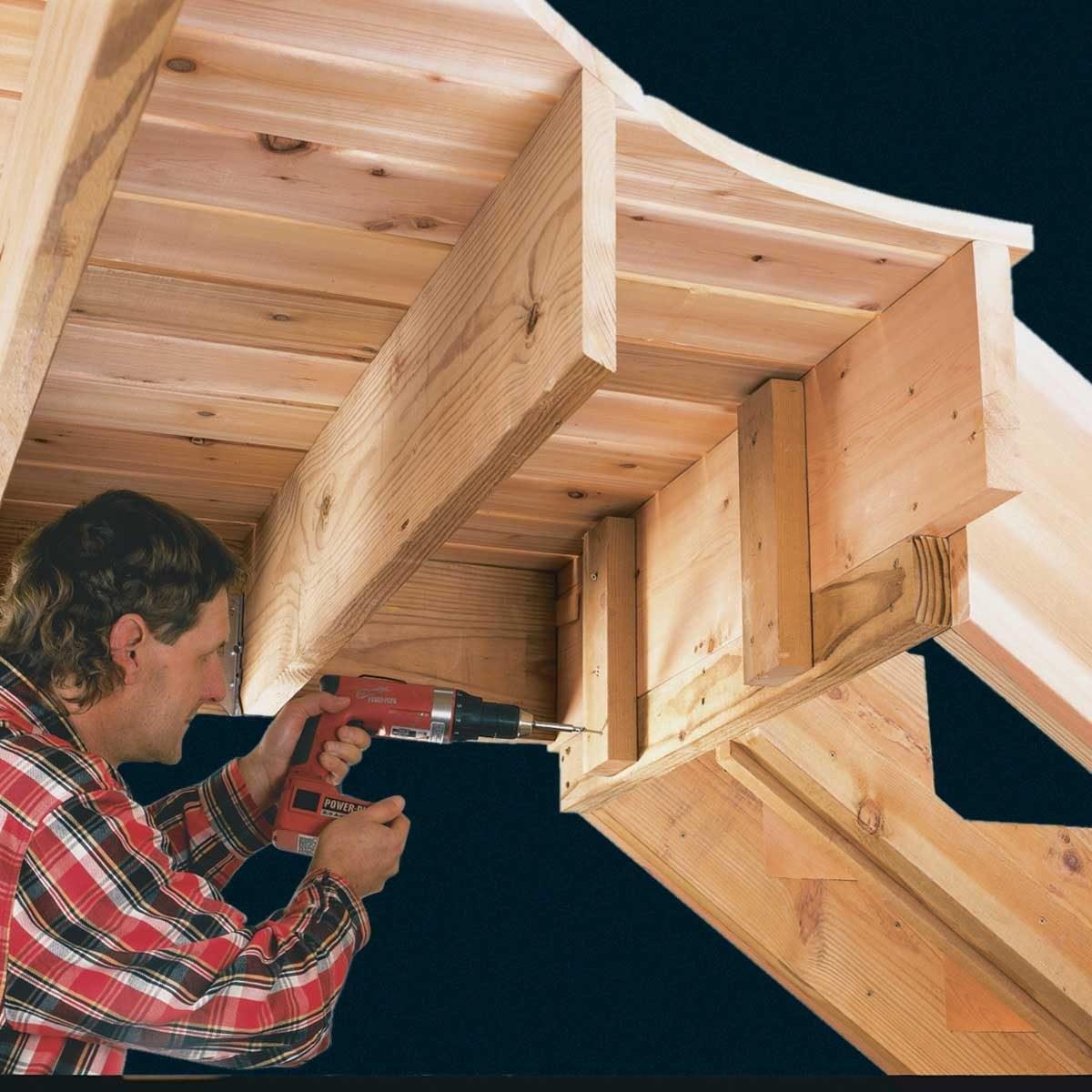 How To Build Deck Stairs The Family Handyman | 8 Step Wood Stair Stringer | Cedar Tone | Menards | Deck | Framing Square | Precut Prebuilt