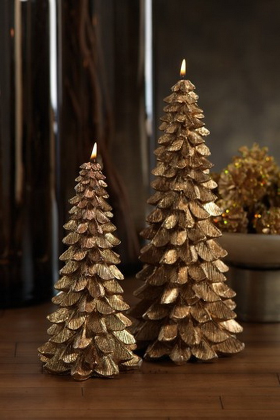 Holiday Decorating Ideas with Christmas Tree Candles  family holidaynetguide to family