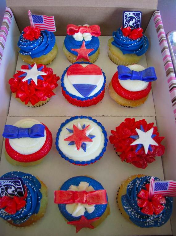 Independence Day Cupcake Patriotic Theme Ideas  family holidaynetguide to family holidays on