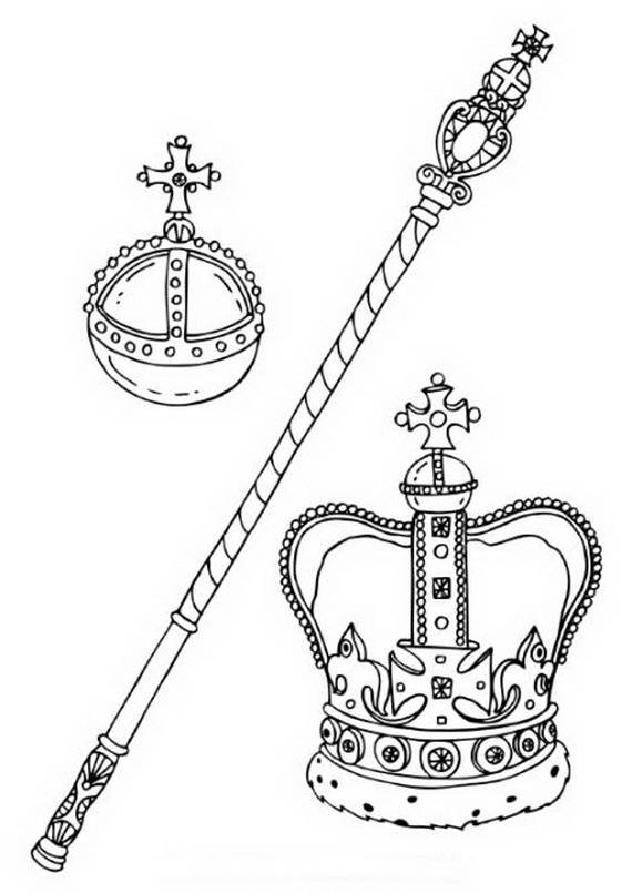 Free how to draw a crown coloring pages
