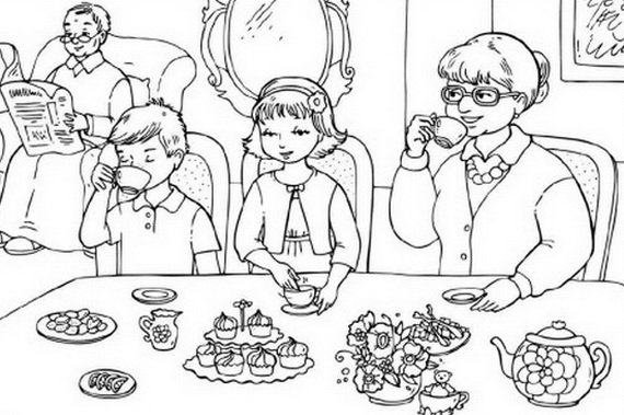 Grandparents Day Coloring Pages to Print and Color