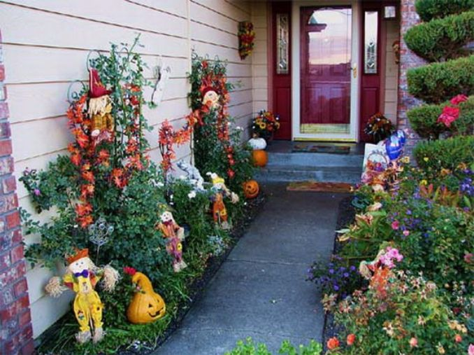 Fall Outdoor Decorations Wallpaper 50 Cool Outdoor Halloween Decorations 2012 Ideas Family