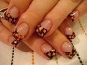 elegant halloween nail art design