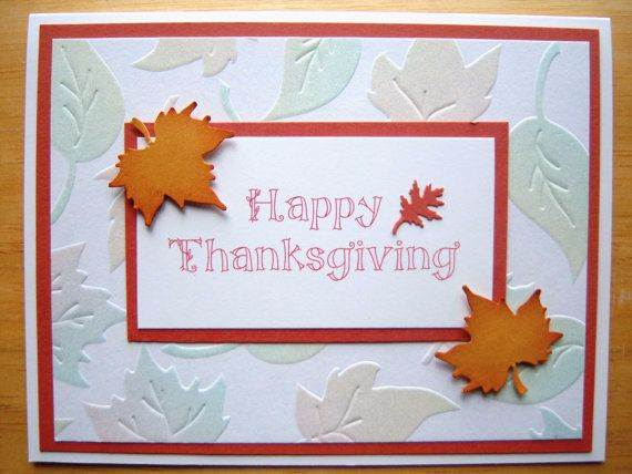 Different Ideas For Homemade Thanksgiving Cards Family