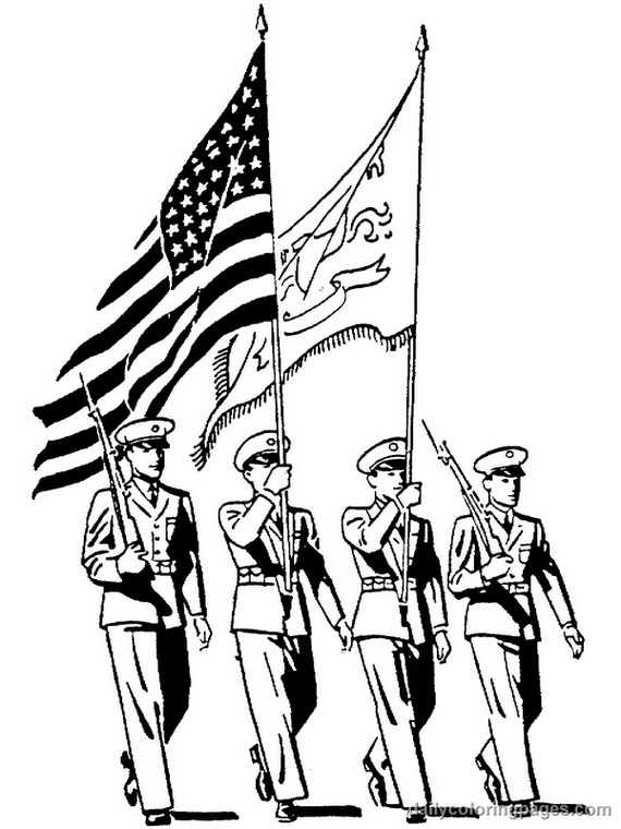 Remembrance Day or Veteran's Day Coloring Pages an