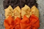 fall & thanksgiving hair bow fashion