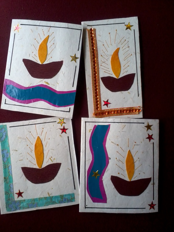 Diwali Homemade Greeting Card Ideas Family