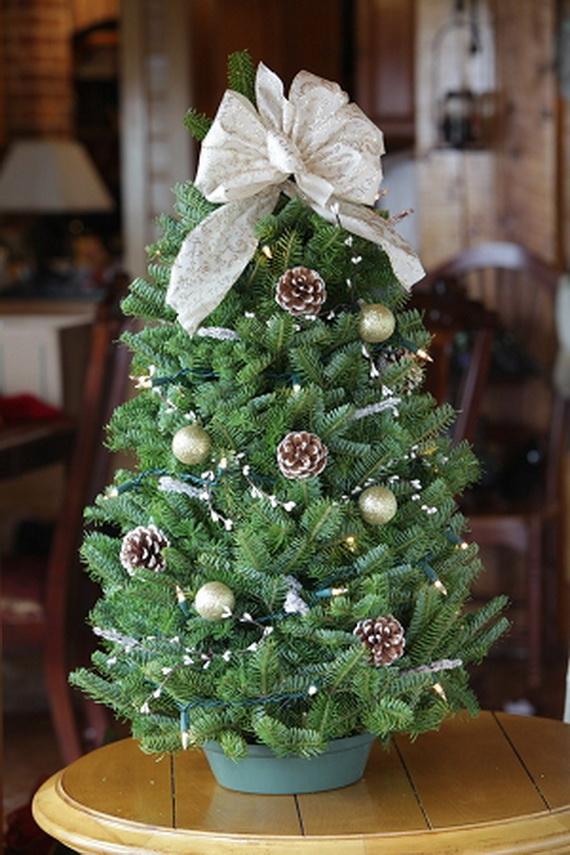 miniature tabletop christmas tree