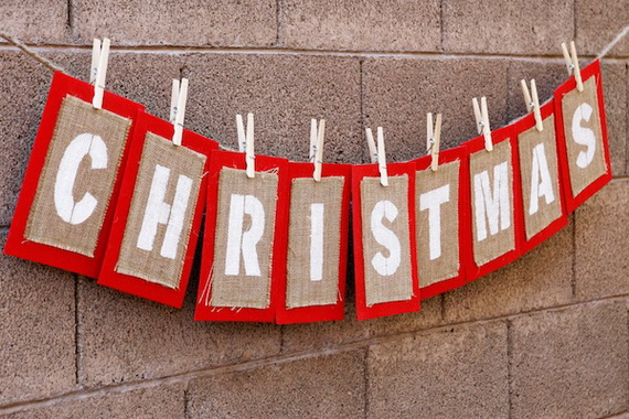 personalized homemade garland christmas