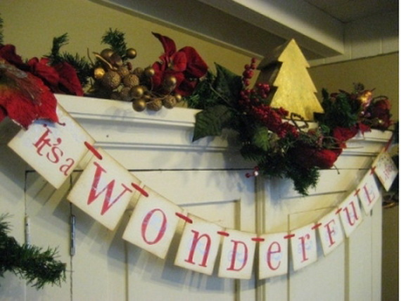 Personalized Homemade Garland Christmas Banners Ideas