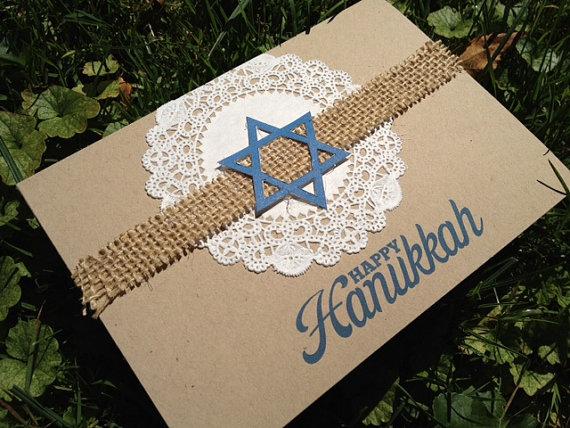 Simple Handmade Hanukkah Greeting Cards Family Holiday