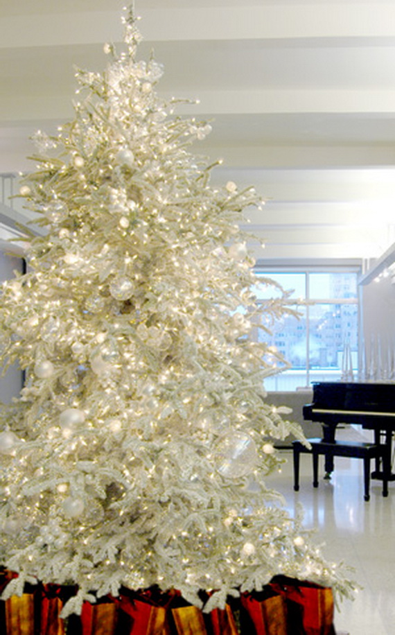 White Christmas Decorating Ideas  family holidaynetguide to family holidays on the internet