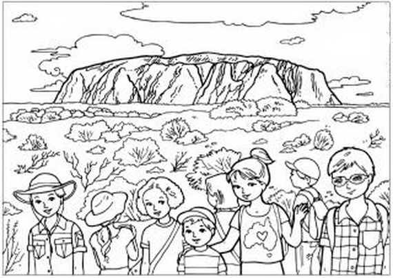 Free coloring pages of aboriginal boomerang