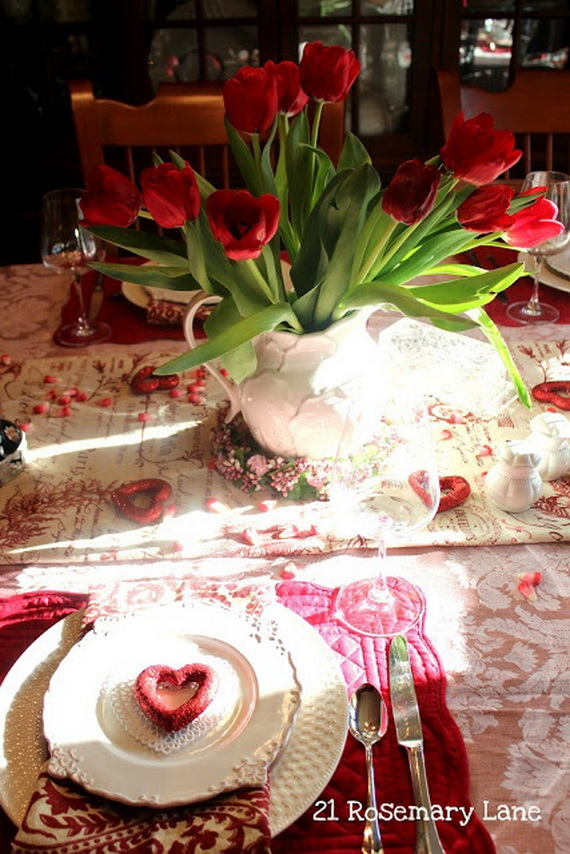 Romantic Table Decorating Ideas for Valentines Day