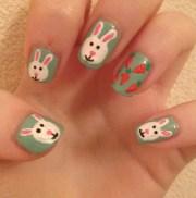 cute easy easter bunny nail ideas
