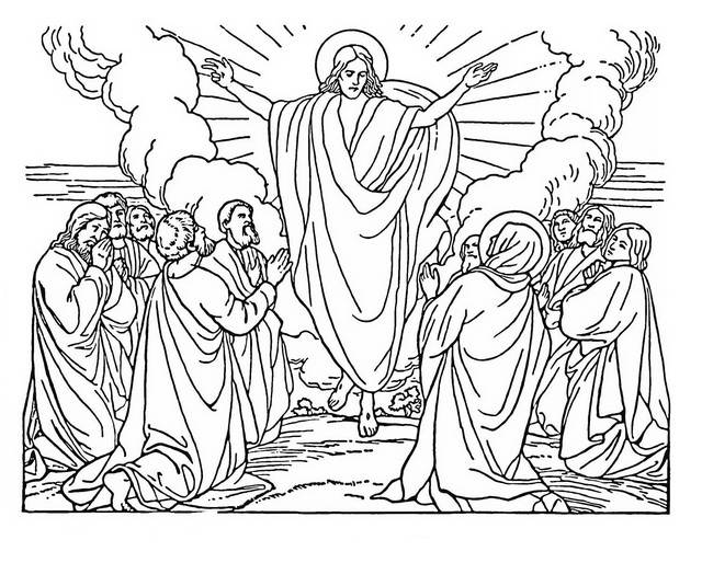 Ascension Of Jesus Coloring Sheet Coloring Pages