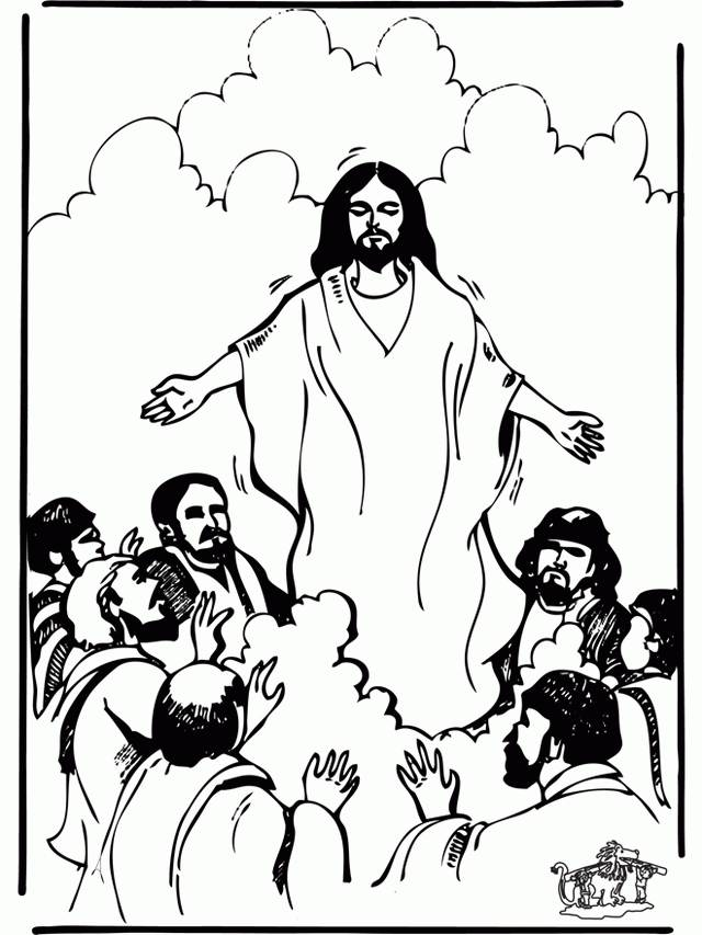 Jesus Ascension Coloring Page Sketch Coloring Page