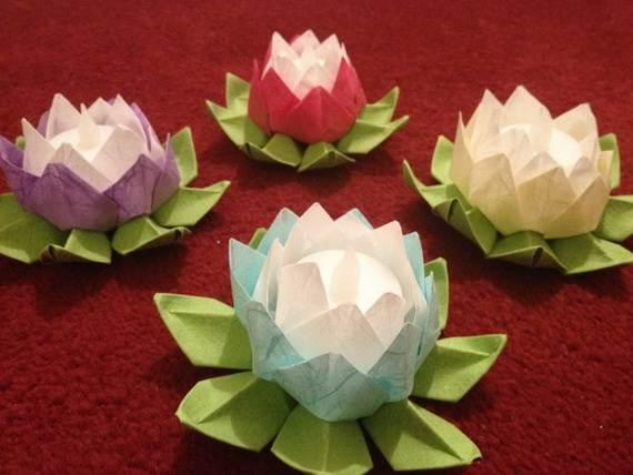 DIY Paper Lotus Lanterns for Buddhas Birthday  family