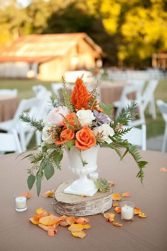 50 Beautiful Centerpiece Ideas For Fall Weddings  family holidaynetguide to family holidays