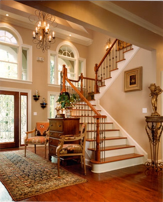 50 Unique Fall Staircase Decor Ideas Family Holiday Net Guide To | Two Story Staircase Designs | Entryway | Stunning | Glass | Two Storey House | 2 Story