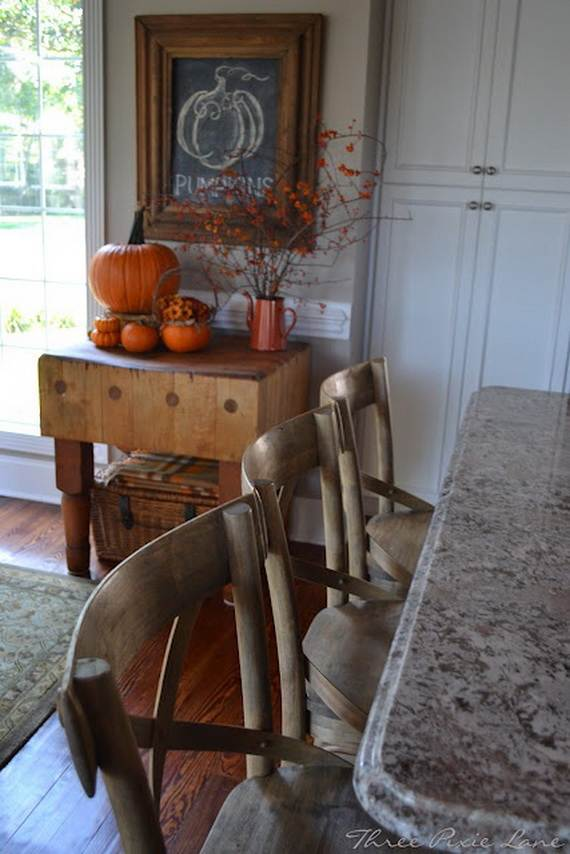 fall kitchen decor sideboard buffet 35 beautiful and cozy ideas - family ...