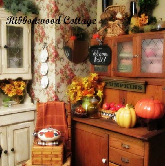 fall kitchen decor solid wood sets 35 beautiful and cozy ideas family holiday net