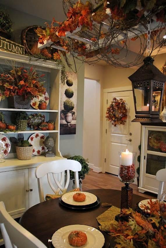 35 Beautiful And Cozy Fall Kitchen Decor Ideas  family