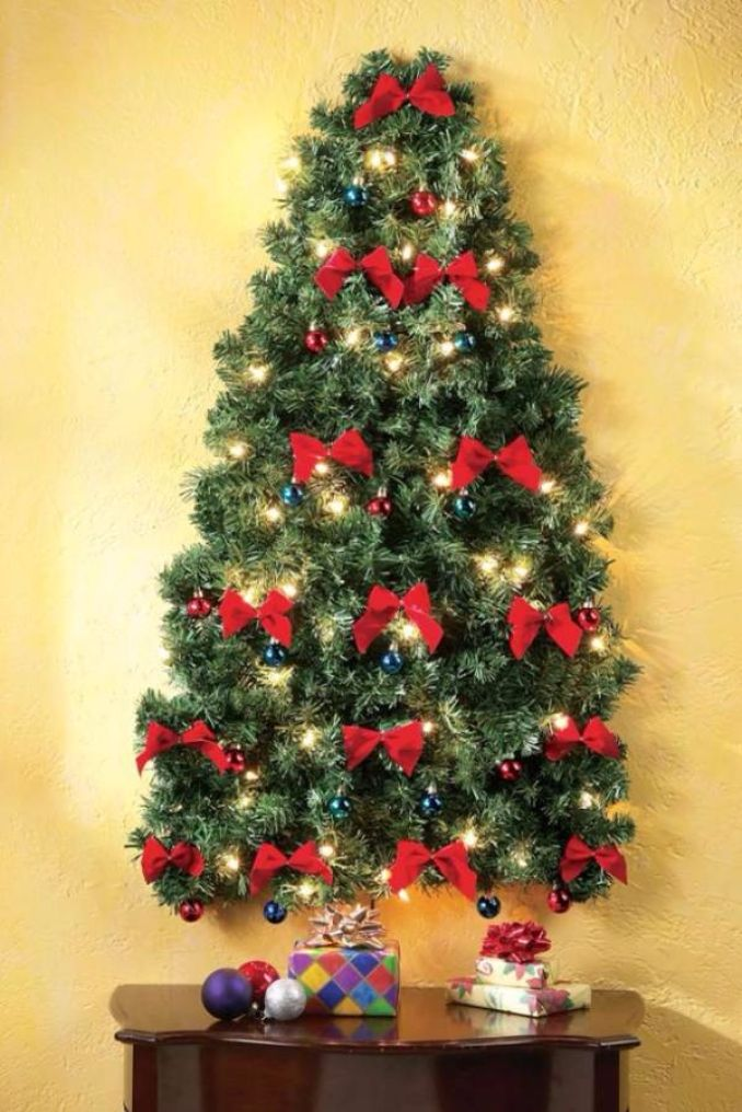 60 Wall Christmas Tree  Alternative Christmas Tree Ideas  family holidaynetguide to family