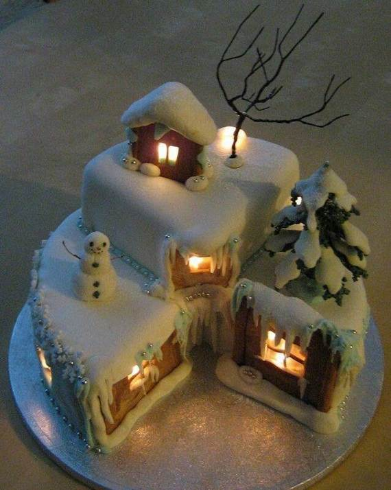 Gingerbread Log Cabin Decorating Ideas