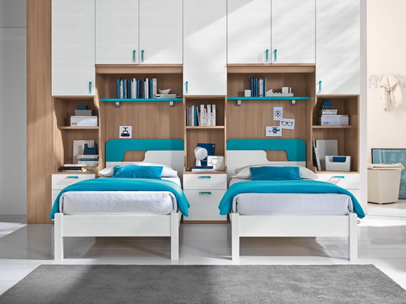 30 Vibrant and Lively Twin Kids Bedroom Designs  family holidaynetguide to family holidays