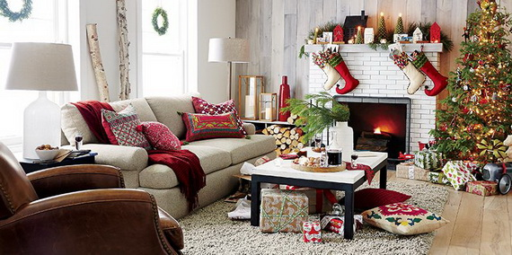 Christmas Living Room Decoration Ideas E2 Creative Lunatics Trend Decorate Your Home For And Dining Brochure Design