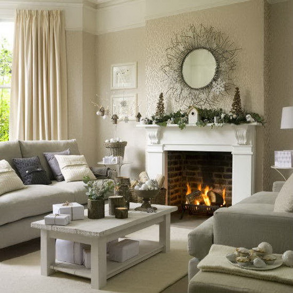 country living rooms with fireplaces beach themed room colors 60 elegant christmas decor ideas family 07
