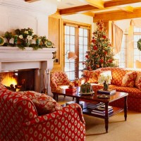 60 Elegant Christmas Country Living Room Decor Ideas ...