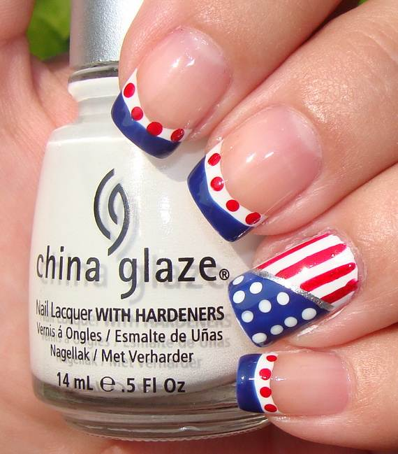 Amazing Patriotic Nail Art Designs Ideas 28