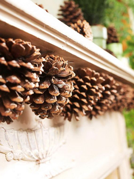 35 Gorgeous Holiday Mantel Decorating Ideas With Pine Cones Family Guide To Family