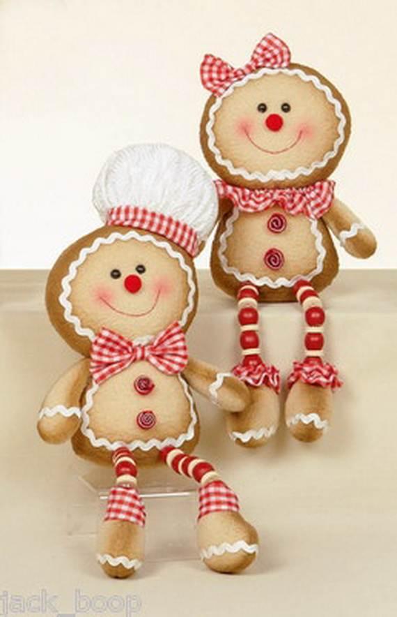 Gingerbread Decoration Ideas Christmas Craft Idea 077