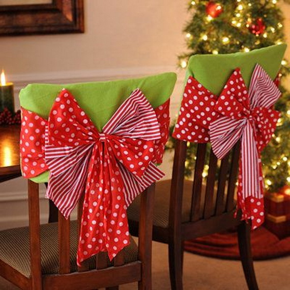 35 Festive Holiday Chair Decorations  family holidaynet