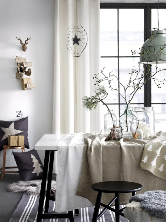 country home decorating ideas living room black and white set a little more festive scandinavian christmas decor - part ...