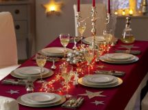 60 Christmas Dining Table Decor In Red And White - family ...