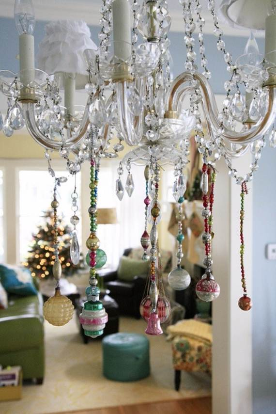 45 Christmas Decorating Ideas For Pendant Lights And Chandeliers Family Holiday Net Guide To