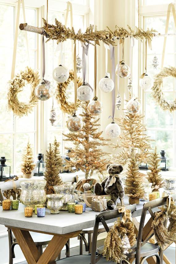 45 Christmas Decorating Ideas for Pendant Lights and Chandeliers  family holidaynetguide to