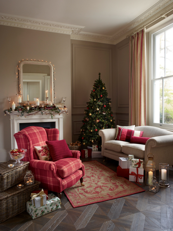 how to decorate living room most comfortable furniture cozy christmas and new year from laura ashley - family ...