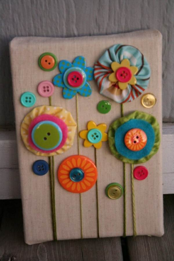 kitchen utensil sets pantry organizers creative diy craft decorating ideas using colorful buttons ...