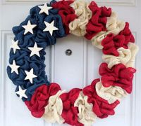 Wreath USA 4th of July Day and Other Patriotic Door ...